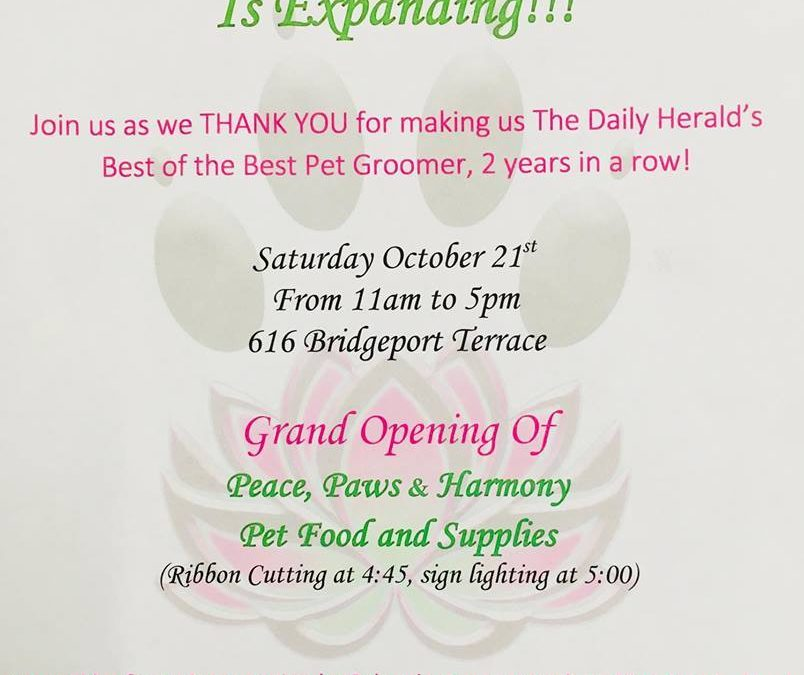 Open House 10/21 – Grand Opening!